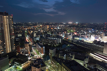 横浜スカイビルの夜景