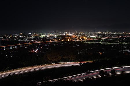 曽我別所 農道の夜景
