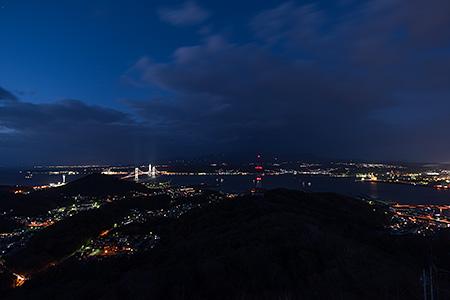 測量山の夜景