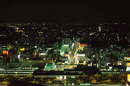 大宮ソニックシティ スカイパークの夜景