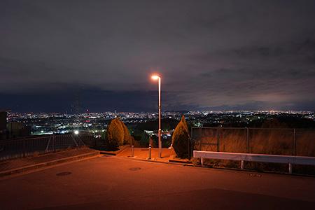 空見の丘公園 階段上の夜景