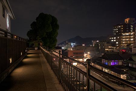 道後温泉 空の散歩道の夜景