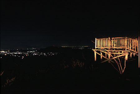 大庭空山展望台の夜景