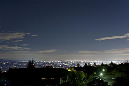 総合公園展望台の夜景