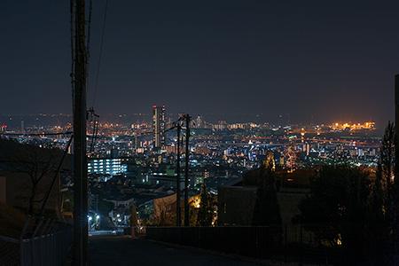 新神戸変電所前の夜景