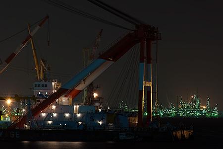 杉田臨海緑地の夜景