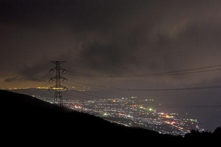 翠波高原 翠波北峰展望台の夜景
