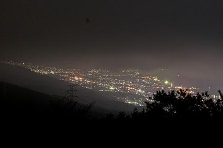 翠波高原 翠波峰広場の夜景