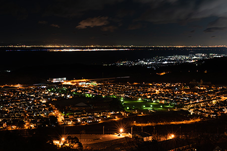 阪南スカイタウン展望緑地の夜景