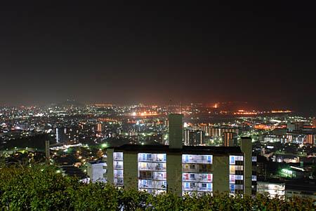 鈴が峰公園の夜景