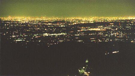 鈴鹿スカイラインの夜景