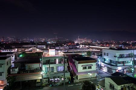 鈴川港公園の夜景