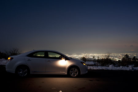 杓子峠 芦ノ湖スカイラインの夜景