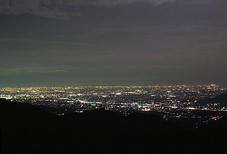ふるさと沙羅林道の夜景