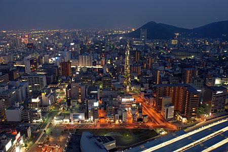 高松シンボルタワーの夜景