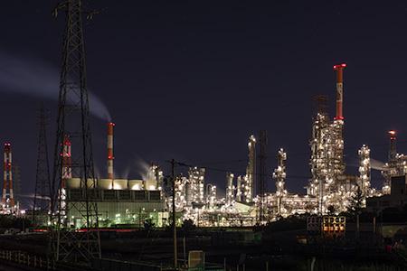 昭和四日市石油南の夜景