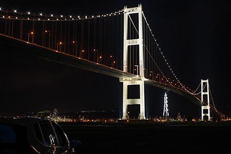 祝津防波堤の夜景