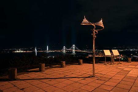 祝津公園の夜景