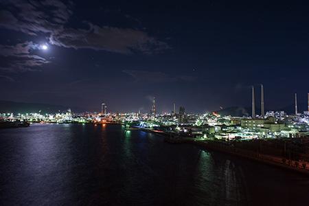 周南大橋の夜景