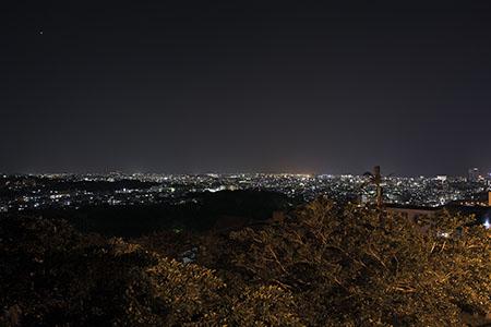 首里カトリック教会付近の夜景