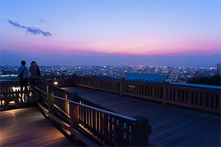首里城 西のアザナの夜景