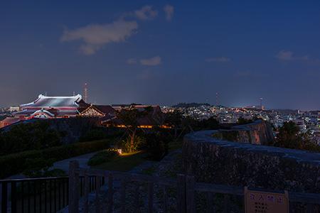 首里城 物見台の夜景