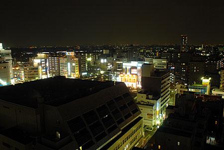 調布市文化会館たづくり 展望ロビーの夜景