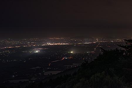 谷上山第2展望台の夜景