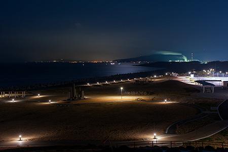 ふじのくに田子の浦みなと公園の夜景