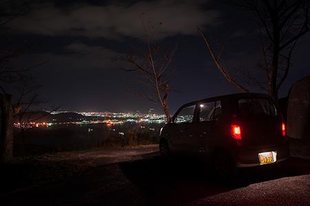 太華山 与謝野鉄幹の歌碑の夜景