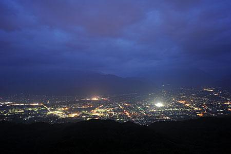 鷹狩山展望台の夜景