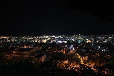 瀧神社 パノラマビューデッキの夜景