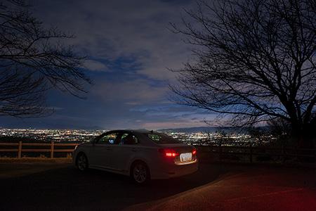 高円山展望所の夜景