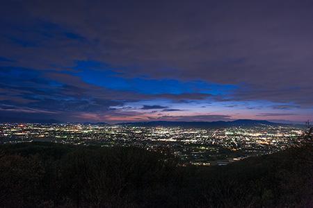 高円山大和三山展望所の夜景