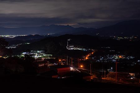 高天彦神社近くの夜景