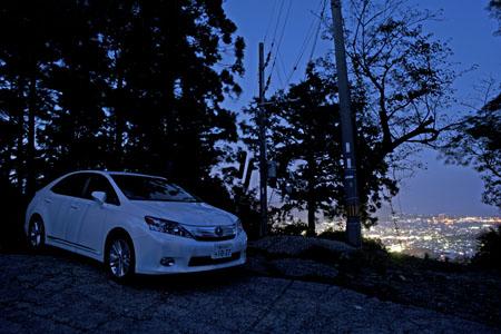 高森いやしの丘 市内展望所の夜景
