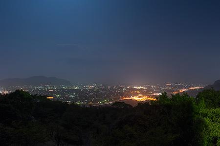 高岡公園の夜景