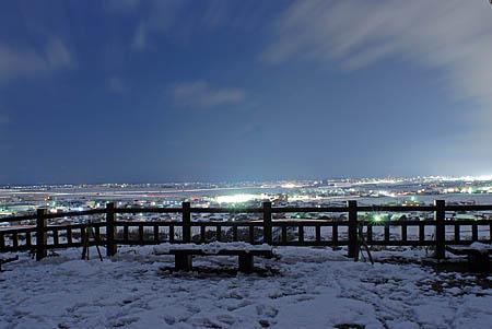高岡城跡の夜景