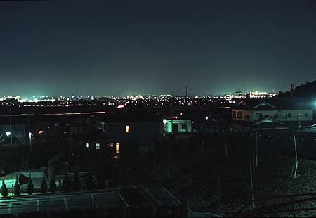 高岡山中央公園の夜景