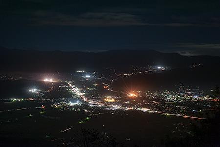 高清水山展望台の夜景
