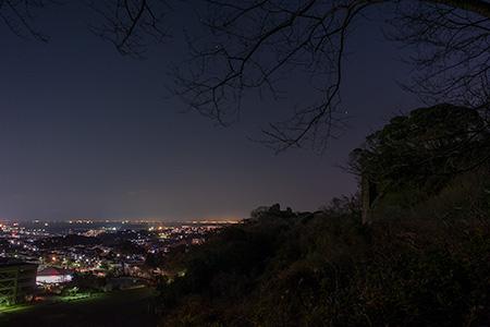 鷹取山 展望広場の夜景