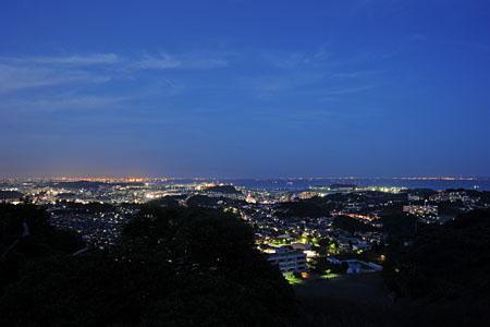 鷹取山 展望台の夜景