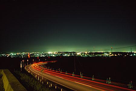 高山パーキングの夜景