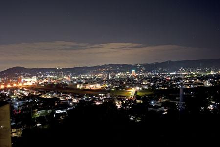 高山城跡の夜景