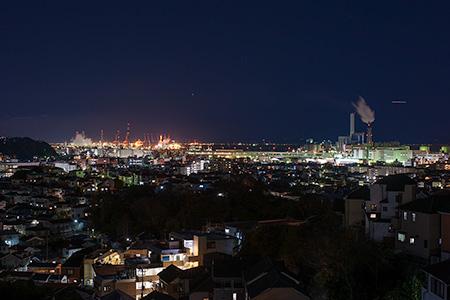滝頭第三公園の夜景