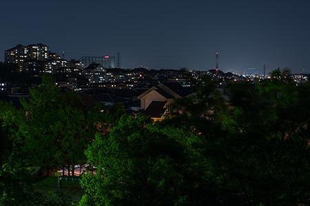 滝ヶ谷公園の夜景
