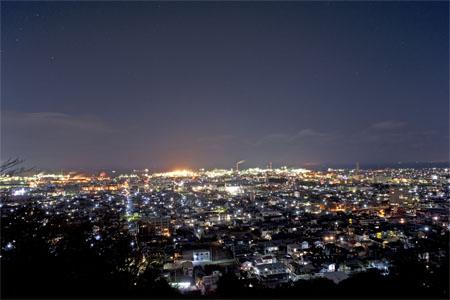 滝の宮公園 第1展望台の夜景