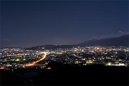 滝の宮公園 第2展望台の夜景