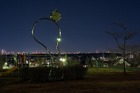 滝の水公園の夜景