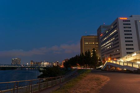 多摩川見晴らし公園の夜景
